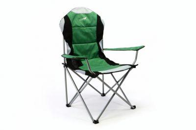 Összecsukható kempingszék Divero Deluxe – zöld/fekete