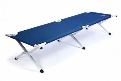 Hordozható alumínium összecsukható ágy Diver 210 x 64 x 42 cm - kék