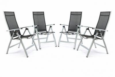 Kerti szék összecsukható GARTHEN 4 db - ezüst