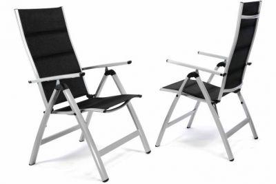Kerti szék összecsukható DELUXE 2 db - fekete