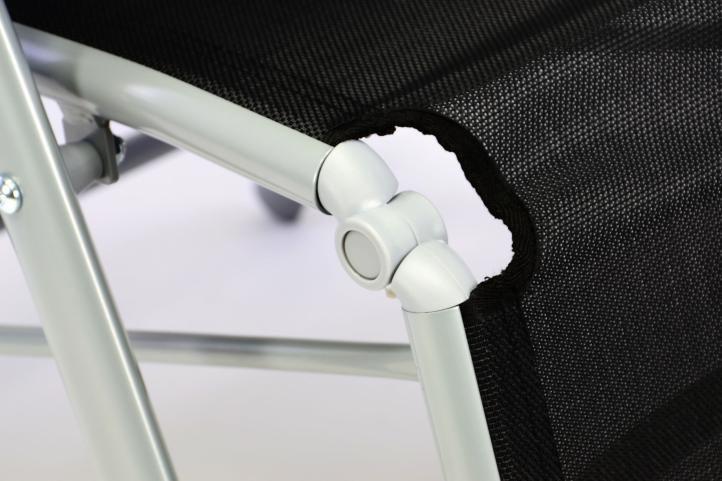Kerti állítható szék GARTHEN 2 db - fekete