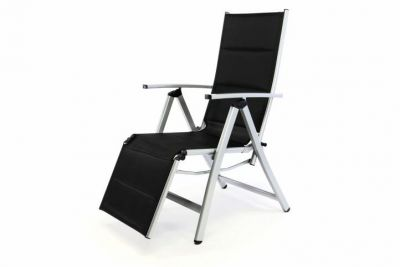 Kerti állítható szék DELUXE - fekete