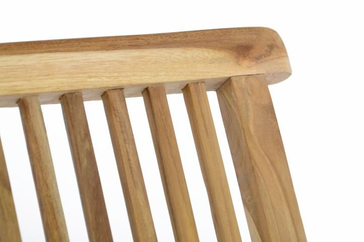 Kerti szék DIVERO 2db - teak fa