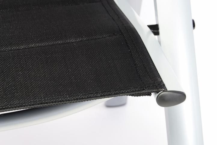 Kerti összecsukható szék 4 db - fekete
