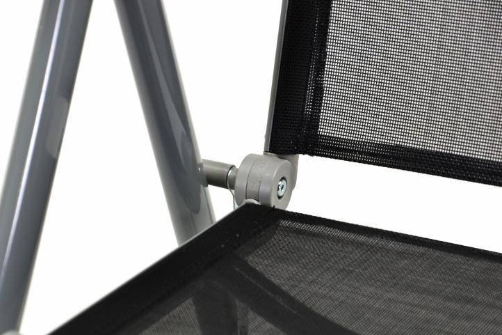 Összecsukható kerti székek GARTH 4 db - fekete