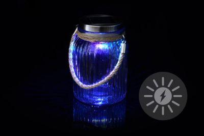 Dekoratív napelemes világítás - LED üveg