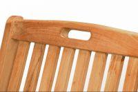 Kerti szék DIVERO - teak fa