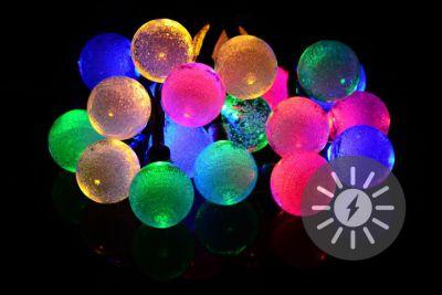 Napelemes megvilágítás 20 LED - színes - villogó funkcióval