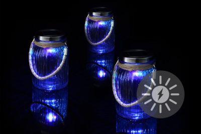 Készlet 3d napelemes lámpából - 1 változő színű LED dióda