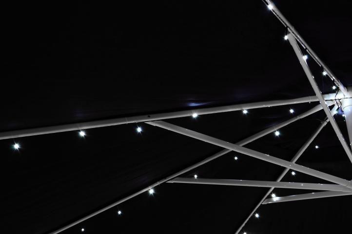 Kerti fényfüzér GARTH – 72 x LED fehér