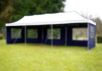 Tartalék tető kerti összecsukható sátorra 3 x 9 m fehér