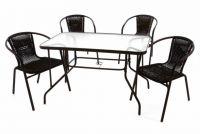 Kerti készlet GARTH 4 db szék + asztal - barna