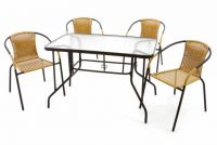 Kerti készlet GARTH 4 db szék + asztal - bézs
