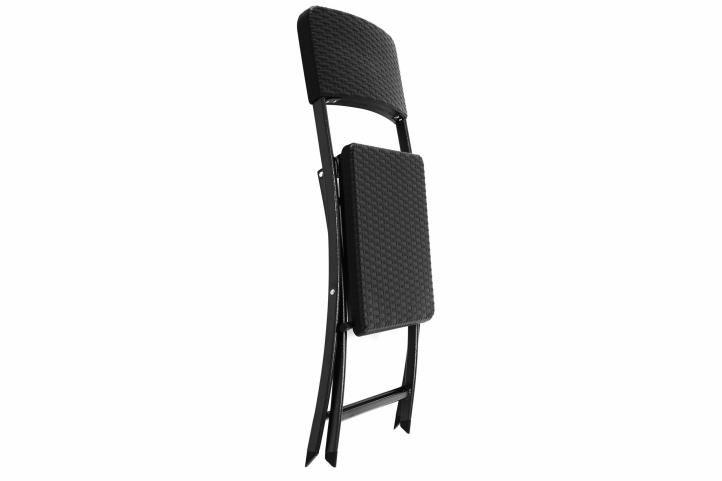 Kerti összecsukható szék GARTHEN - fekete
