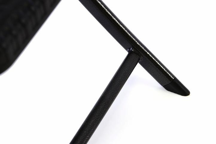 Készlet 2 összecsukható polyrattan széból 80 x 40 cm