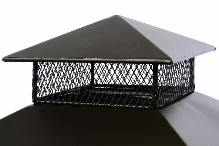 Teraszos acél kerti kandalló 82 x 54 x 54 cm