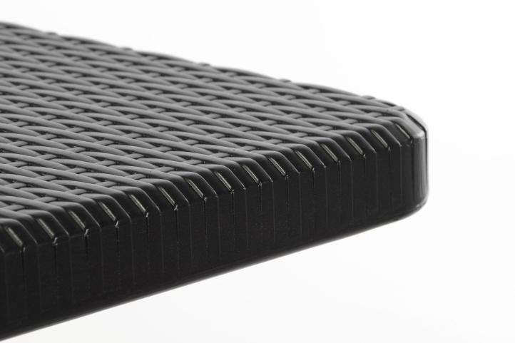 Összecsukható kerti asztal - fekete 180 x 75 cm