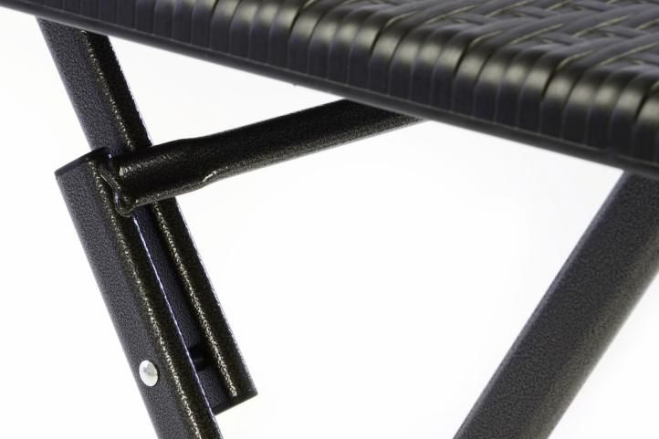 Összecsukható kerti asztal 75 x 61 x 61 cm - rattan