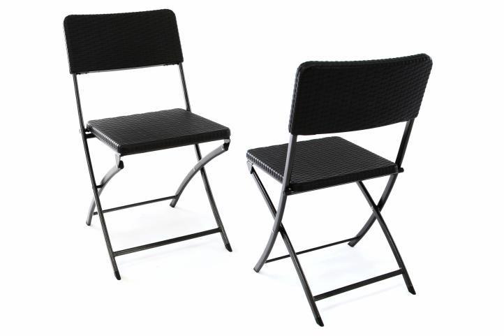 Kerti készlet és 2 rattan kinézetű szék, összerakható