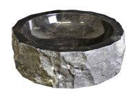 DIVERO mosdókagyló természetes kőből - fekete márvány