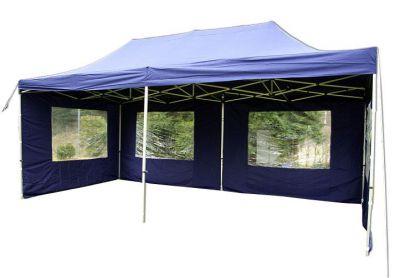 Összecsukható kerti sátor PROFI 3 x 6 m -  kék