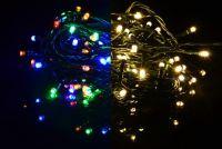 Karácsonyi fényfüzér 100 LED - 9 villogó funkció, színváltó - 9,9 m