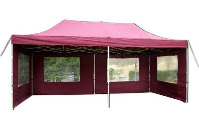 Összecsukható kerti parti sátor PROFI – 3 x 6 m bordó