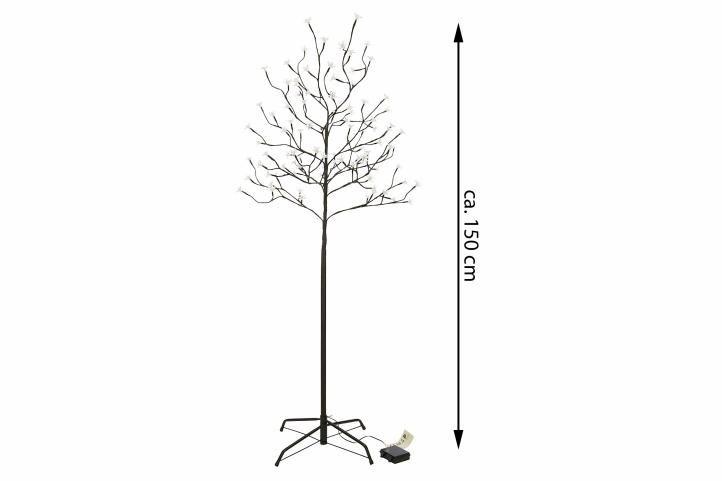 Dekoratív LED világító fa 150cm/96x LED - meleg fehér