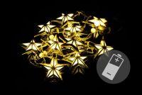 Karácsonyi LED világítás - csillagok - meleg fehér 10 LED
