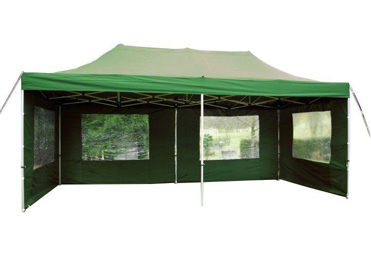 Összecsukható kerti parti sátor PROFI – 3 x 6 m zöld