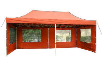 Összecsukható kerti sátor PROFI 3 x 6 m - terrakotta