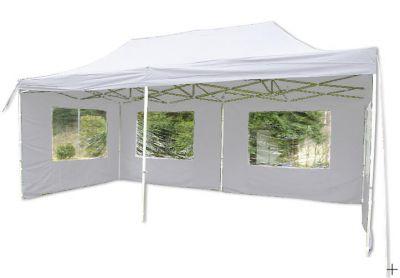 Összecsukható kerti parti sátor PROFI – 3 x 6 m fehér