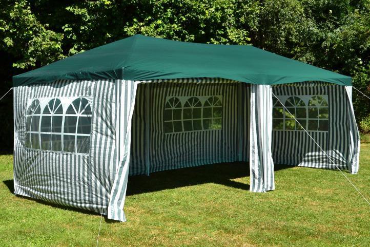 Kerti party sátor GARTHEN – 3 x 6 m, zöld