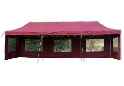 Összecsukható kerti sátor PROFI 3 x 9 m - bordó