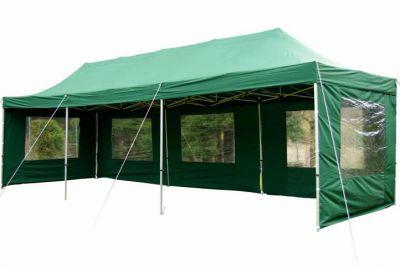 Összecsukható kerti sátor PROFI 3 x 9 m - zöld