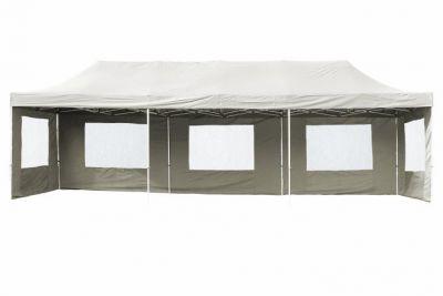 Kerti összecsukható sátor – fehér, 3 x 9 m
