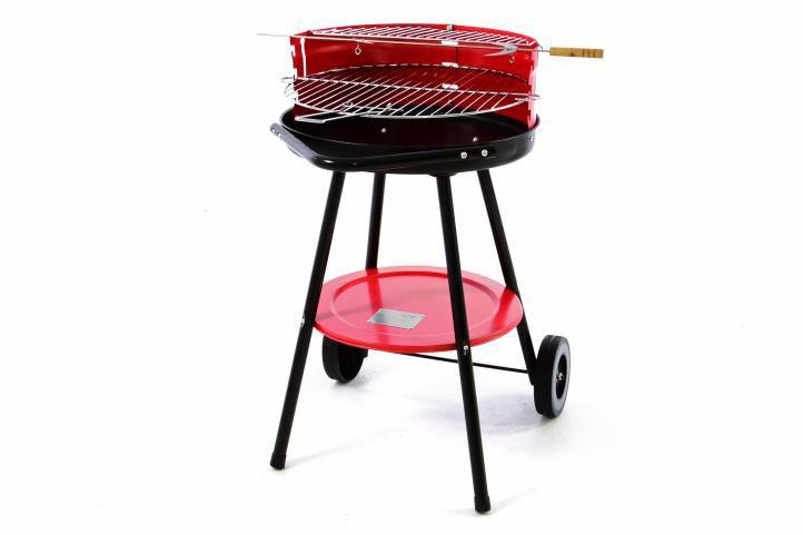 Kerti grillsütő faszenes - piros