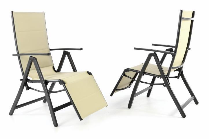 Kerti összecsukható székek DELUXE 2 db - bézs