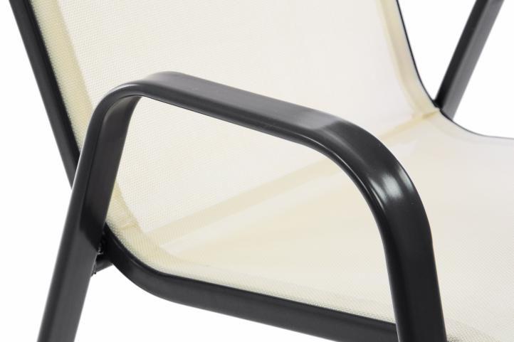Kerti 2 db szék GARTHEN - krém