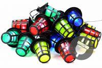 Kerti 20 db LED világítás - 5 m színes