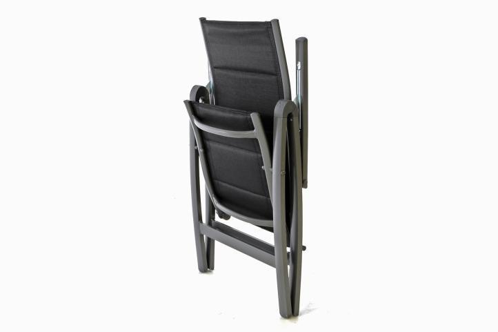 Kerti szék DELUXE 4 db - fekete