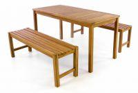 Kerti bútor készlet DIVERO® 150 cm - tíkfa