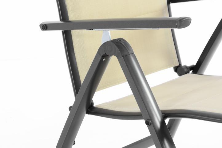 Kerti székek DELUXE 4 db - bézs
