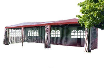 Kerti sátor GARTHEN – piros, 3 x 9 m