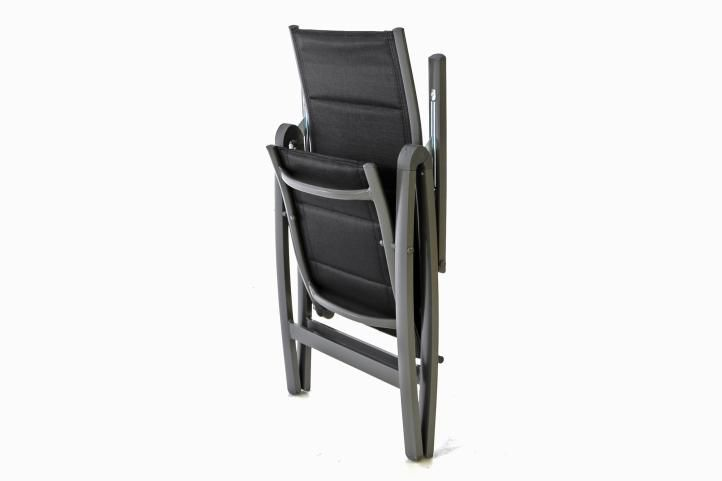 Kerti szék DELUXE 2 db - fekete
