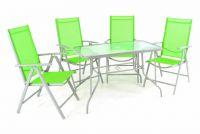 Kerti készlet asztal + 4 szék - zöld