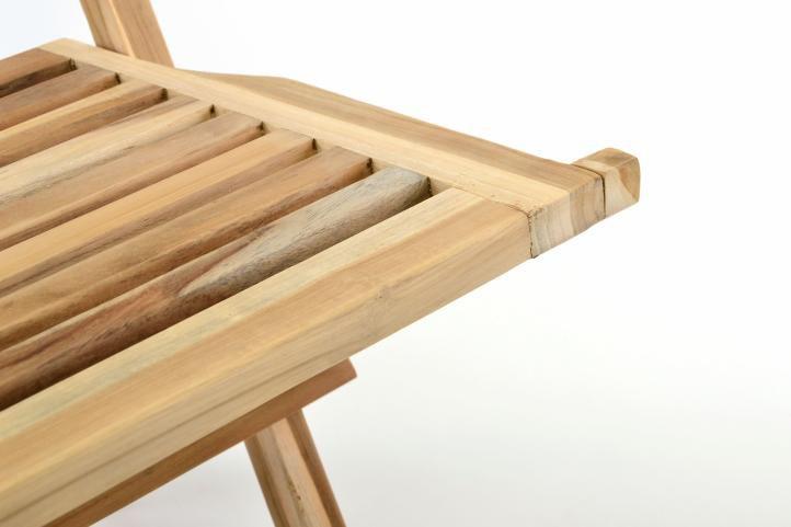Kerti szék összecsukható DIVERO® Hantown 2 db - tíkfa