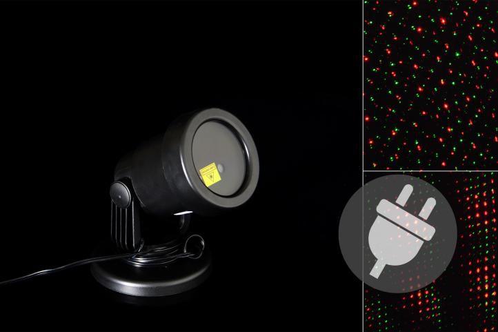 Külső LED projektor - piros és zöld - vetítési távolság 15 - 20 m