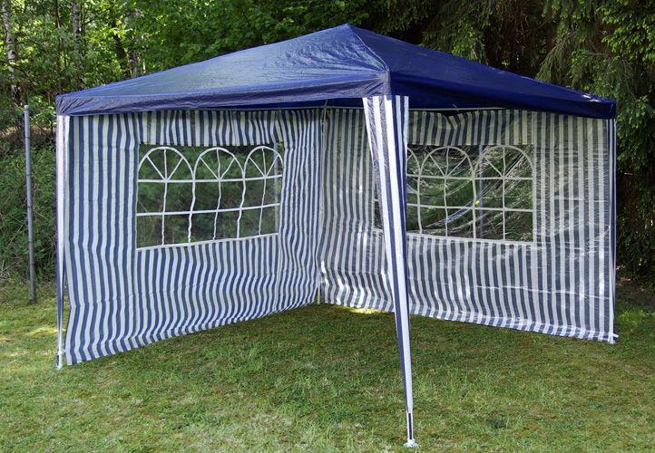 Két oldalfal kerti sátorhoz - fehér/sötétkék Garth