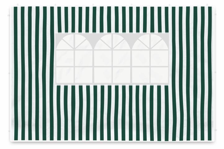 Két oldalfal kerti sátorhoz - fehér/zöld Garth